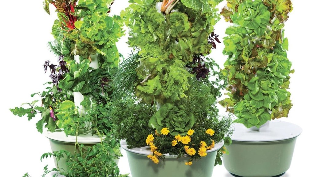 Garden Tower Family of three towers hydroponic aeroponic gardening