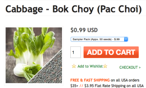 Bok Choy Seeds Now Preview