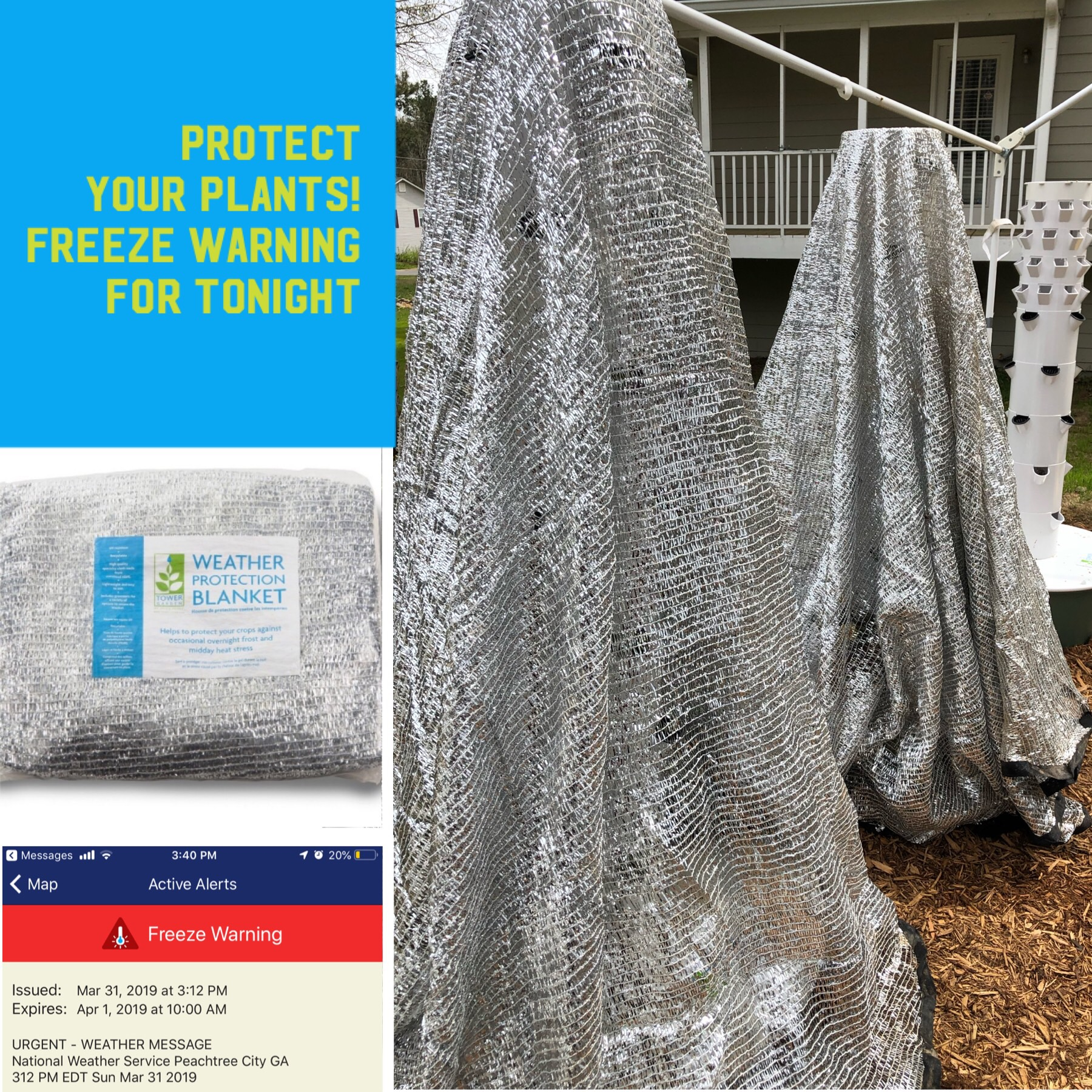 Tower Garden by JuicePlus Weather Protection Blanket Erin Castillo